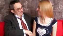 Blonde marvelous sweetheart is going crazed with teacher's huge schlong