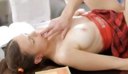 Amazing young couple is demonstrating their eager manners in sexually