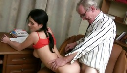 Lascivious naughty whore is drilled wildly in her perfect holes