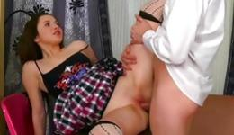 There is so much passion in her eyes while she is getting her drilled wildly