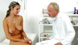 Don't miss this fabulous porn where hot goddess has screwing with old doctor